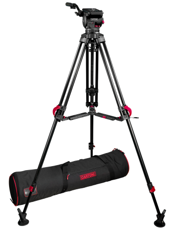 Cartoni Focus 12 100mm with 2-Stg Red Lock Aluminum Tripod