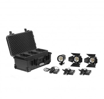 2 x Practilite 602 / 1 x Practilite 600 kit, V-lock battery plates and Soft-box