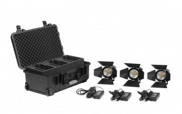 Practilte 602 Bi-Color Smart LED Fresnel 3 Light Kit