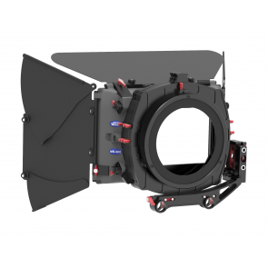 MB-623 Matte box kit, includes single and double rotatable filter stage including 3x filter holder, donut adapter ring, 19mm swing away side flag kit