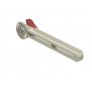 Single sided NATO rail with rosette (140 mm)