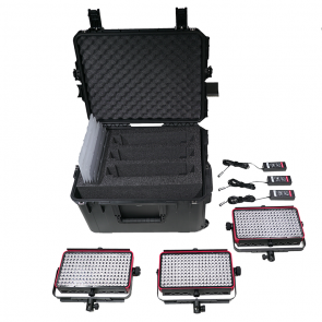 Kinotehnik 3x Practilite 802 Bi-Color Water-Resistant Smart LED Panel Field Kit
