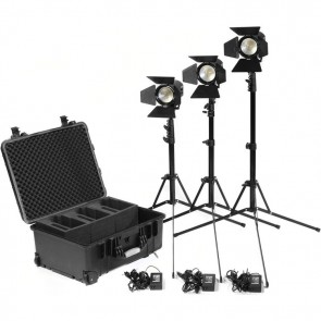 3ea PRACT602 Bi-Color Smart LED Fresnel