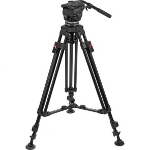 Cartoni Focus HD Fluid Head & Two-Stage 3-Tube Aluminum Alloy Tripod