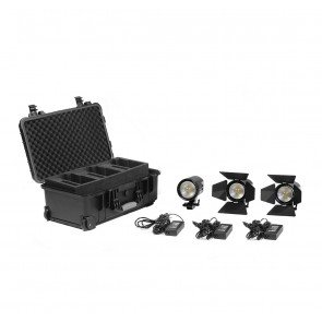 2 x Practilite 602 / 1 x Practilite 600 kit, V-lock battery plates and Soft-box