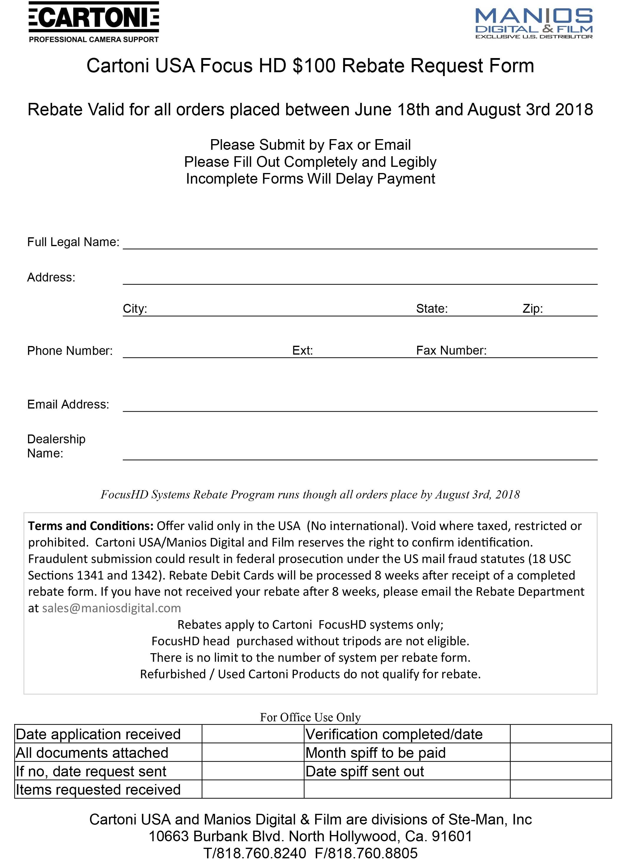 summer rebate form
